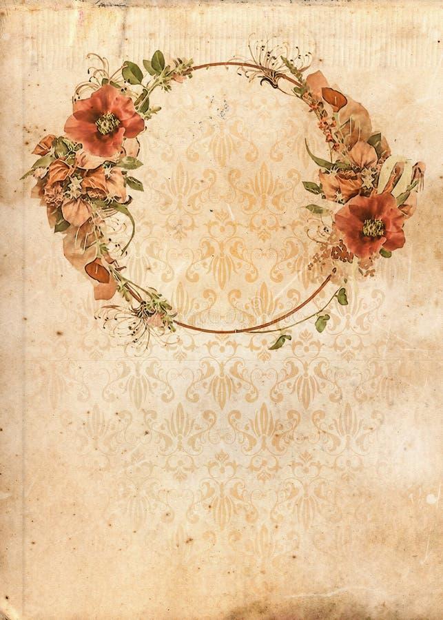 Download Flower Garland Vintage Shabby Chic Background Stock Illustration