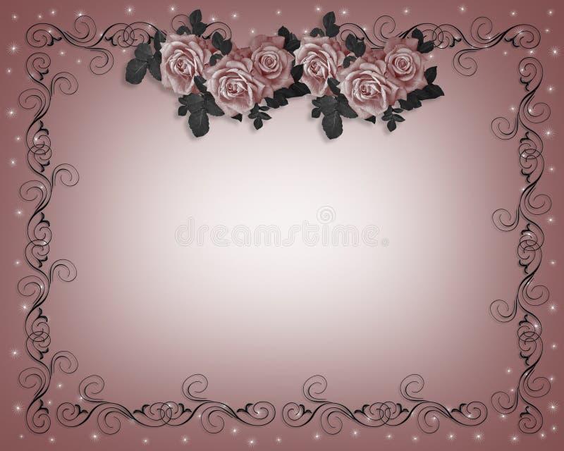 Download Roses Wedding Invitation stock illustration. Illustration of greeting - 4269270