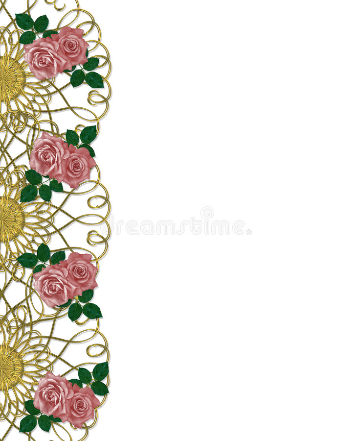 Download Roses Wedding Or Party Invitation Stock Illustration - Illustration: 6494625