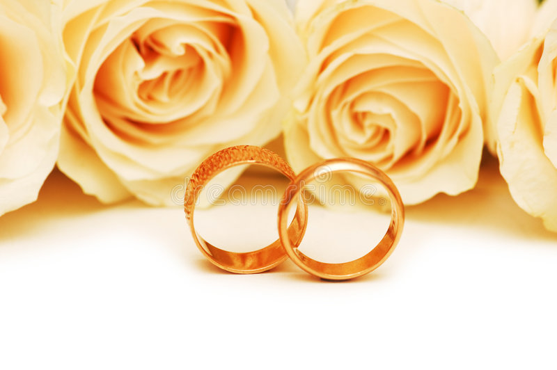 Download Roses And Wedding Rings Stock Photo Image Of Macro