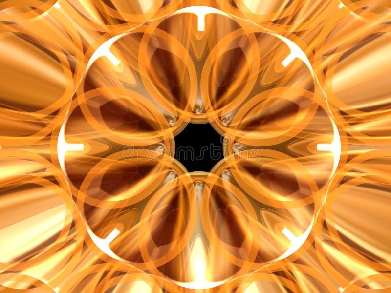 Rosetón de oro 5 ilustración del vector