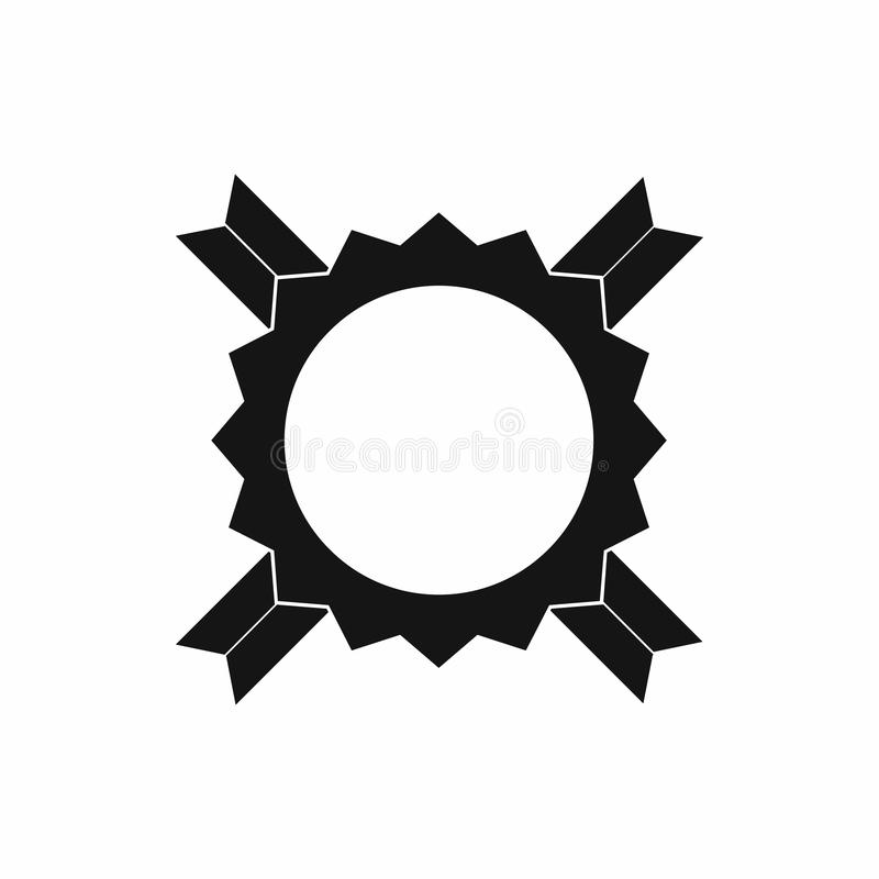 Rosetón en blanco del premio con el icono de la cinta, estilo simple ilustración del vector