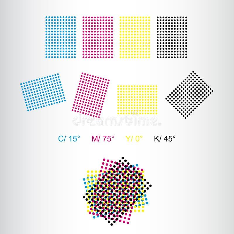 Rosetas da impressão - rotação correta para a cópia ilustração do vetor