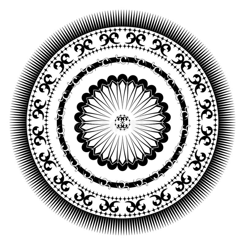 Rosetta circolare decorativa royalty illustrazione gratis