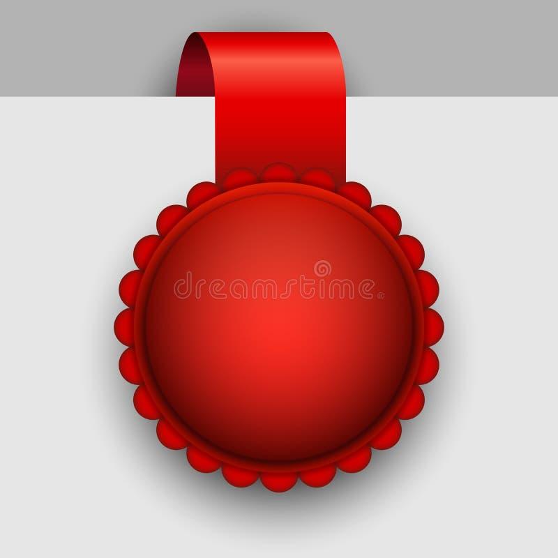 Rosetta rossa in bianco illustrazione di stock
