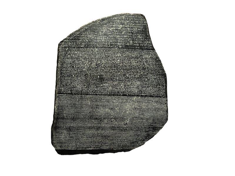 Rosetta Stein lizenzfreie stockfotos