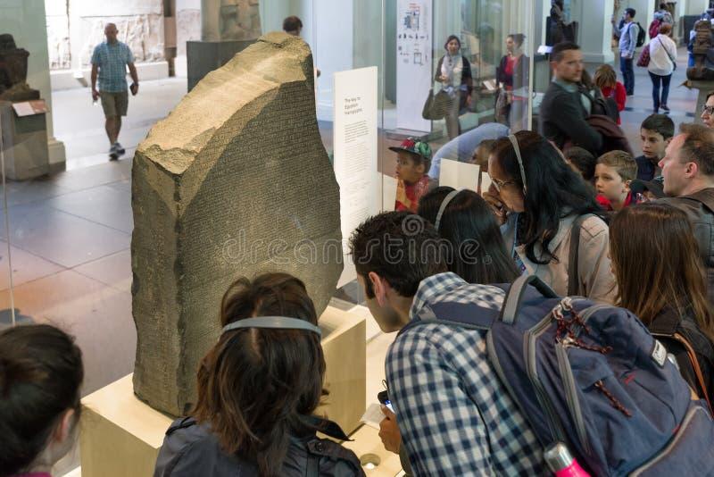 Rosetta-Stein im britischen Museum, London stockbilder