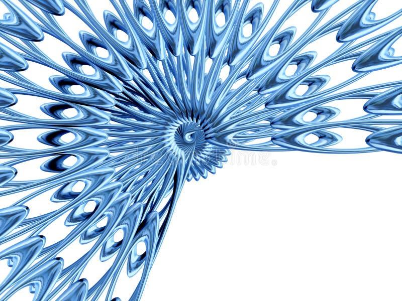Rosette azul ilustração do vetor