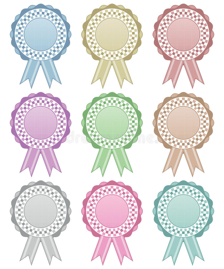 Rosette Decorations Stock Photo