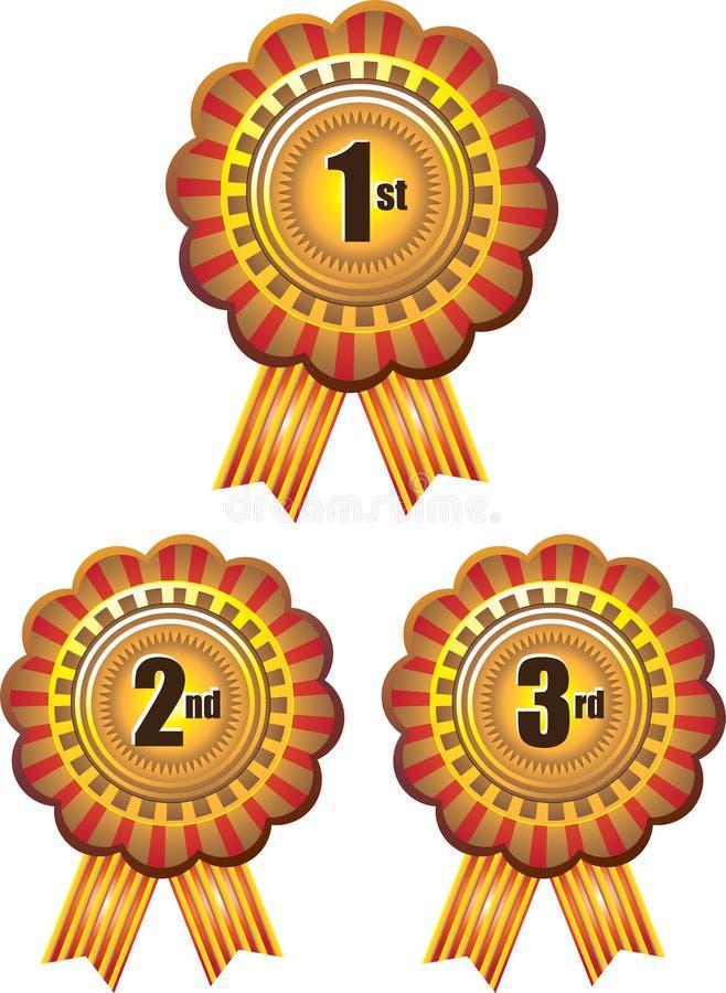 Rosette del nastro del premio illustrazione vettoriale