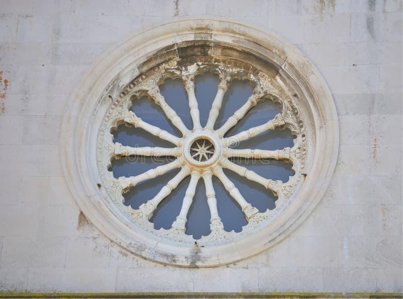 Rosette der Kathedralenkirche lizenzfreie stockfotos