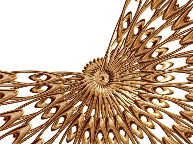 Rosette dourado 3 ilustração royalty free