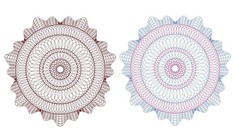 rosette för modell för cevalutaguilloche royaltyfri illustrationer