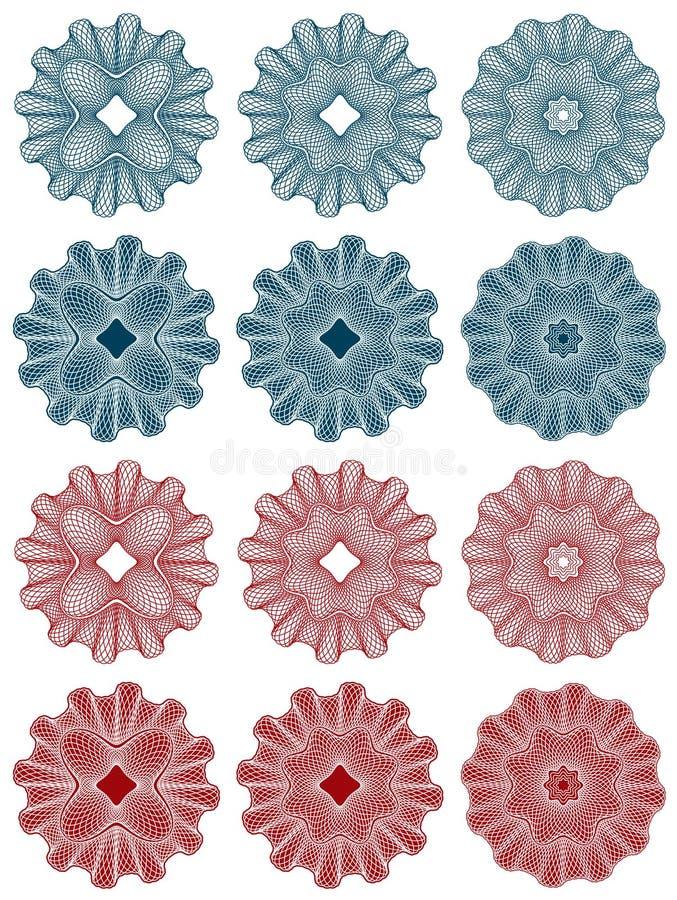 rosette guilloche ilustracja wektor