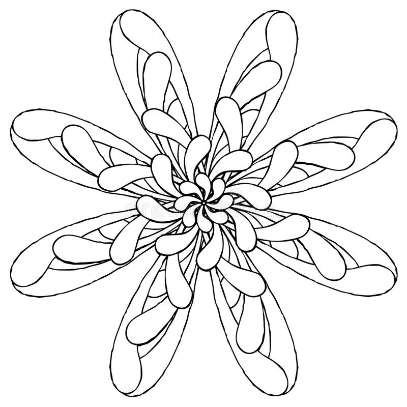 Download Rosette Original Drawing One Stock Vector - Image: 16269897