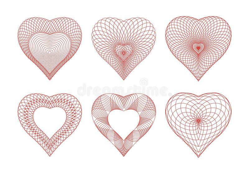 Rosettes de Valentine illustration stock