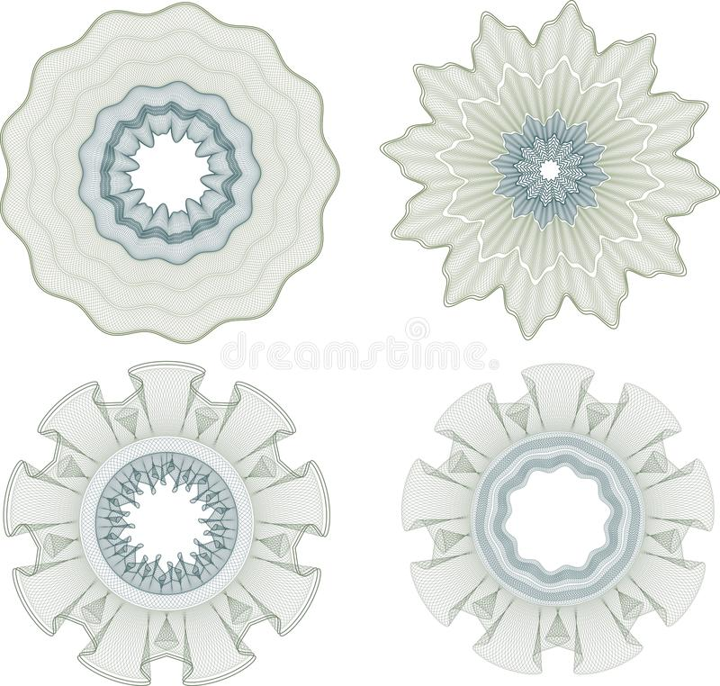 ROSETTES DO GUILLOCHE ilustração royalty free