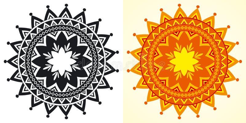 Download Rosettes Géométriques Décoratives Illustration de Vecteur - Illustration du ornemental, geometry: 8662387