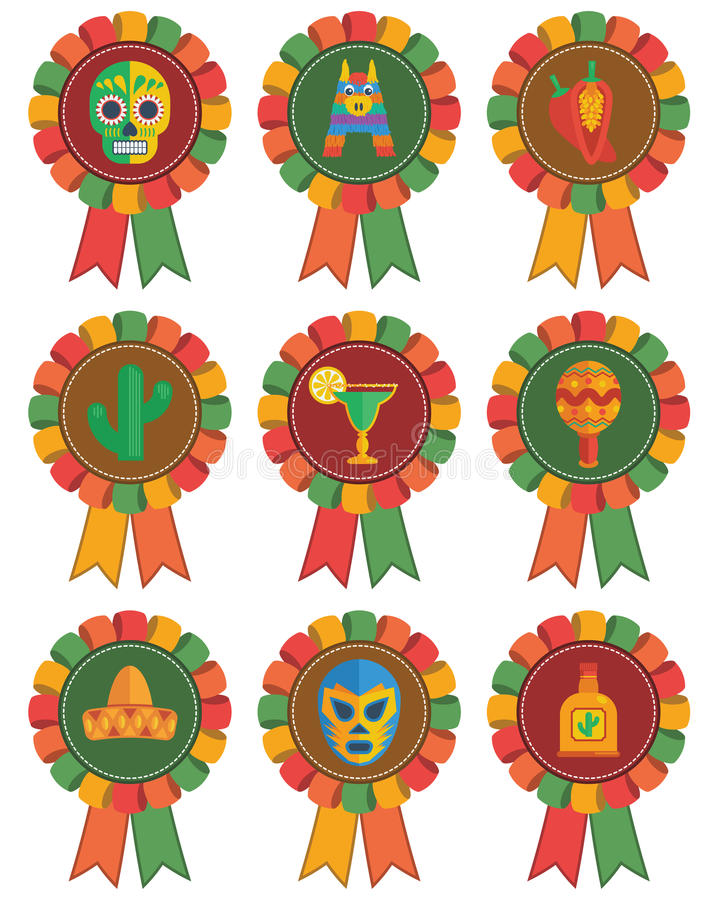 Rosettes mexicaines illustration stock