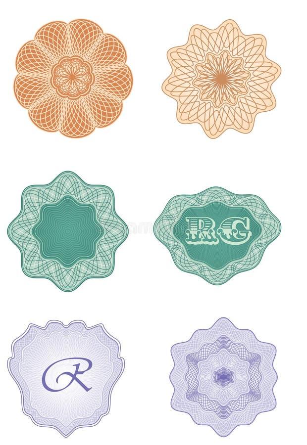 Rosettes - vecteur d'éléments de conception illustration libre de droits
