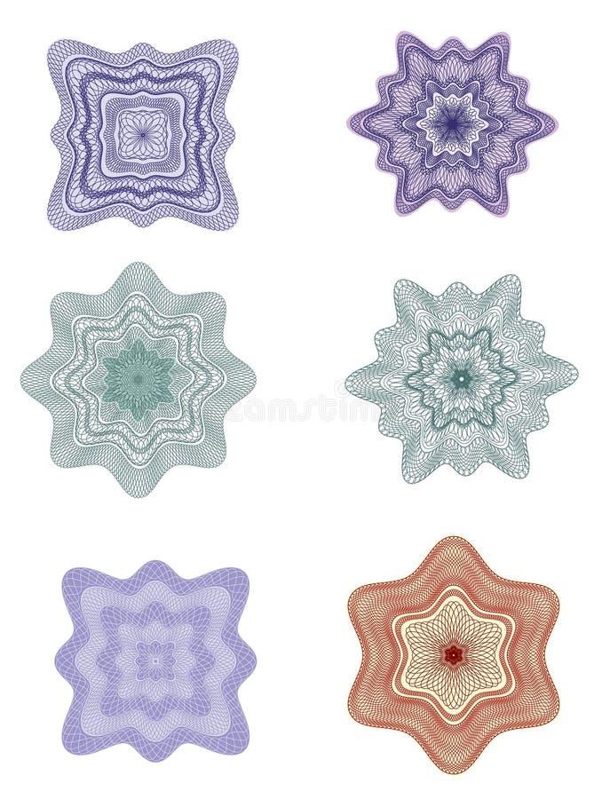 Rosettes - vecteur d'éléments de conception illustration de vecteur