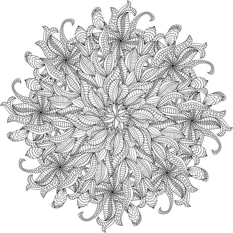 Rosettprydnad royaltyfri illustrationer