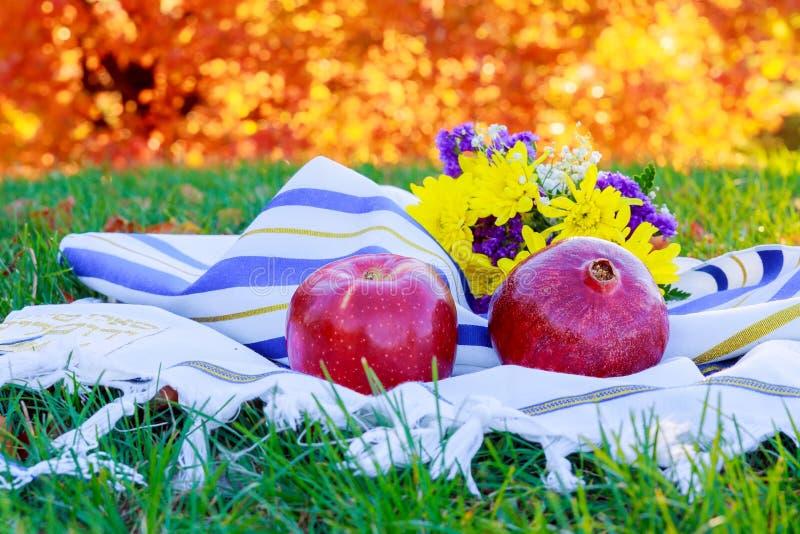 Rosh hashanah犹太新年假日概念 犹太的节假日 免版税库存照片