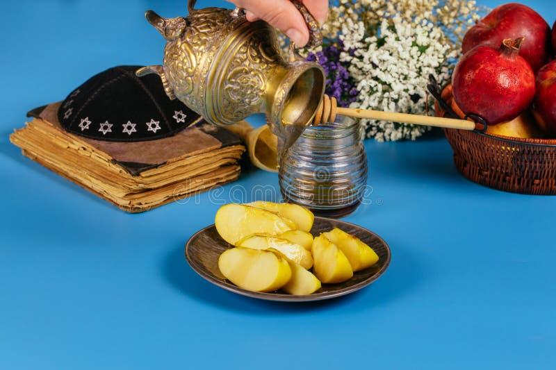 Rosh-hashanah j?disches Neujahrsfeiertagkonzept Selektive Weichzeichnung lizenzfreies stockfoto