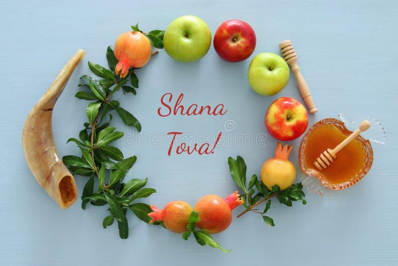 Rosh-hashanah u. x28; jüdisches neues Jahr holiday& x29; Konzept lizenzfreie stockfotografie
