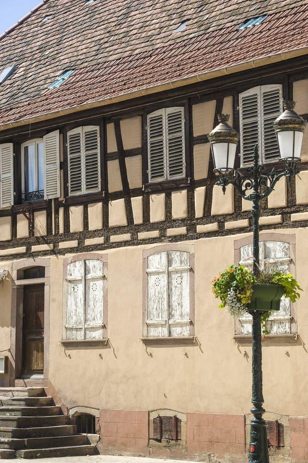 Rosheim (阿尔萨斯) -之家 免版税图库摄影