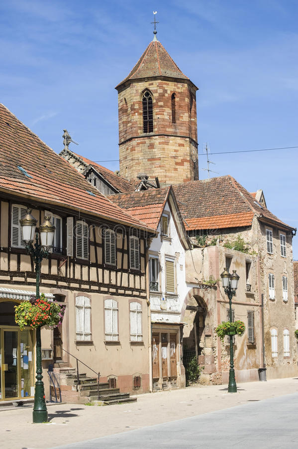 Rosheim (Alsace) Arkivfoto