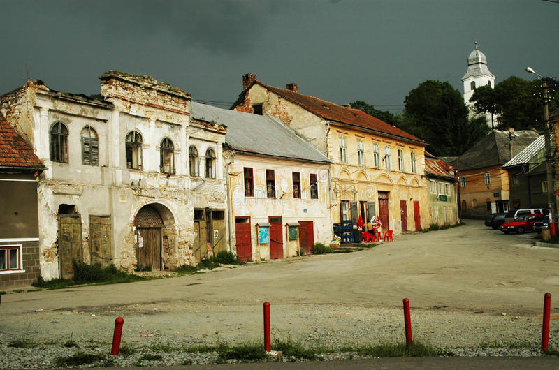 Rosia Montana, a beautiful old village from Transy stock photography