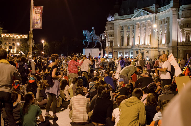 Download Rosia Montana Protest In Bucharest,Romania(11) Editorial Stock Image - Image: 33387799