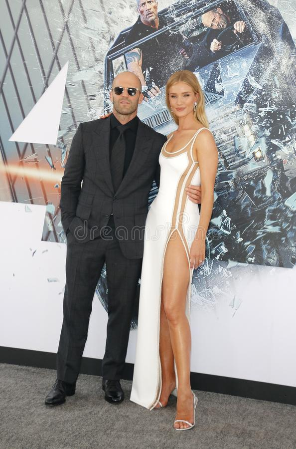Rosie Huntington-Whiteley et Jason Statham photo libre de droits