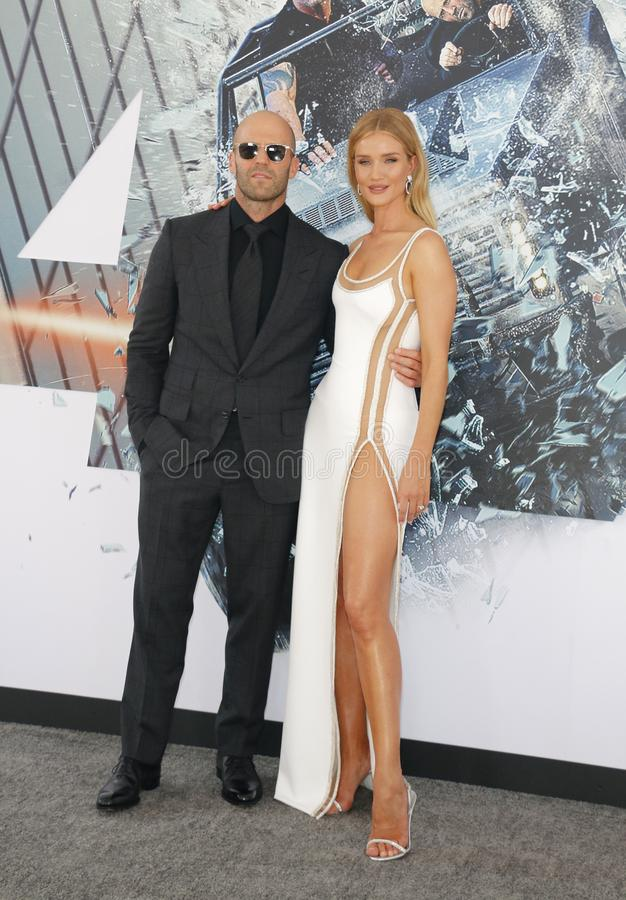 Rosie Huntington-Whiteley et Jason Statham photo stock