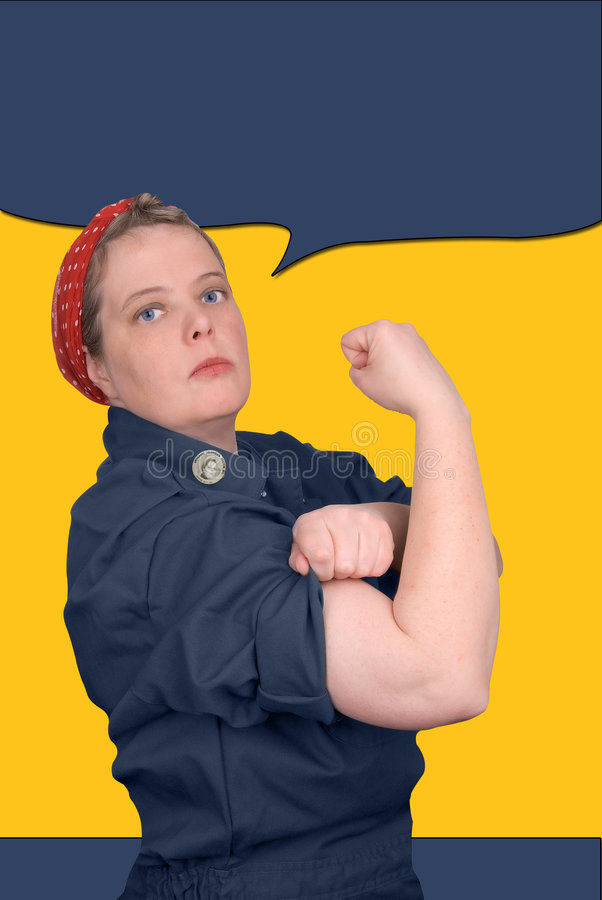 Rosie The Riveter Stock Image Of Vintage
