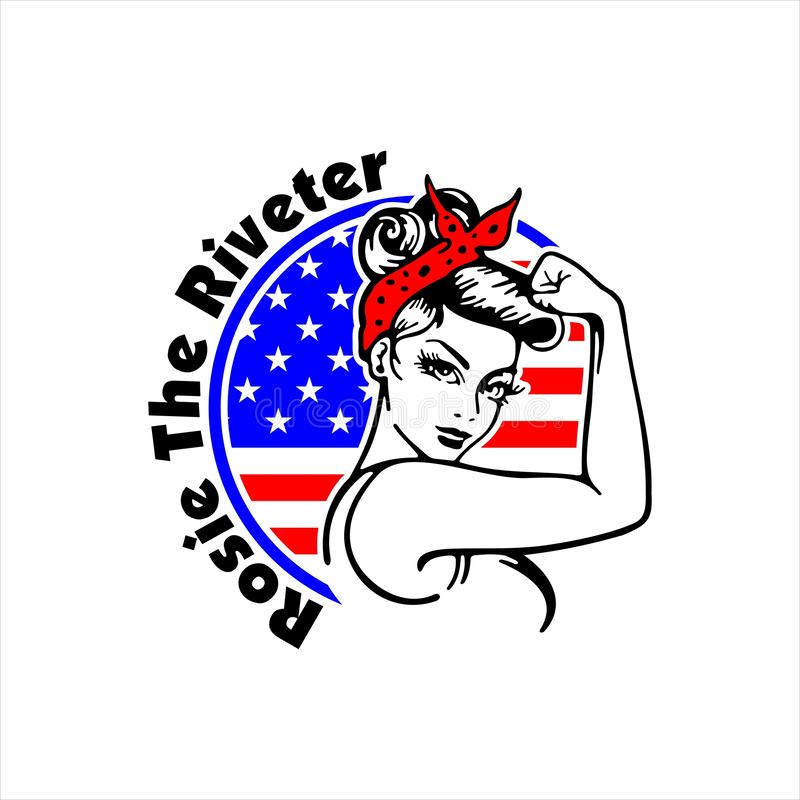 Rosie The Riveter We Can Do it royalty free illustration