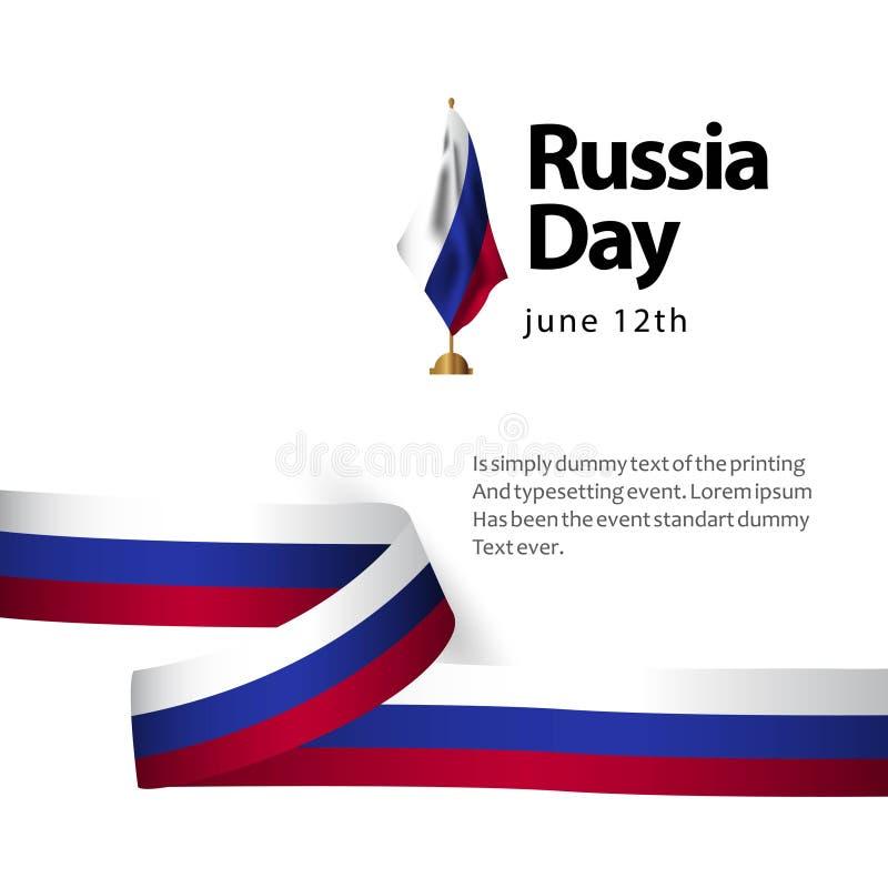 Rosja dnia flagi szablonu projekta Wektorowa ilustracja ilustracja wektor