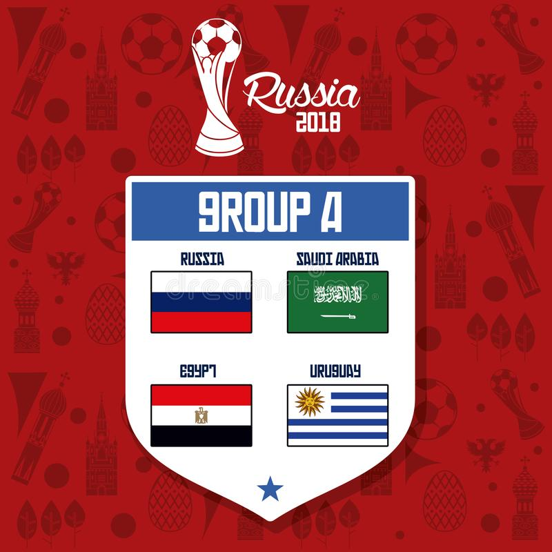 Rosja drużyn futbolowych grupa ilustracji