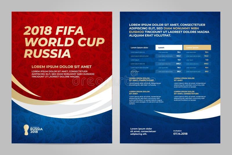 Rosja 2018 filiżanek szablon ilustracji