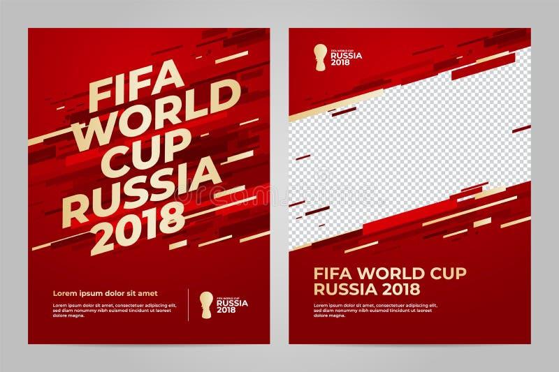 Rosja 2018 filiżanek szablon ilustracja wektor