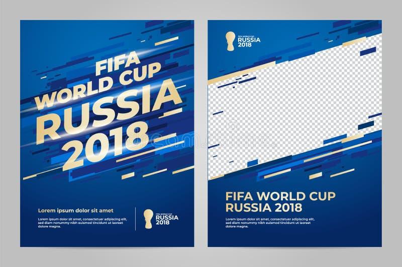 Rosja 2018 filiżanek szablon royalty ilustracja