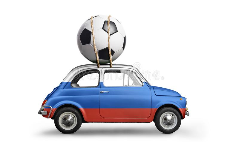 Rosja futbolu samochód zdjęcia royalty free