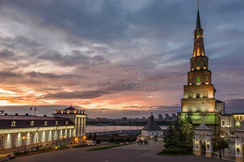 Rosja Kazan, Wrzesień, -, 2017 Basztowy Syuyumbike w Kazan Kremlin fotografia stock
