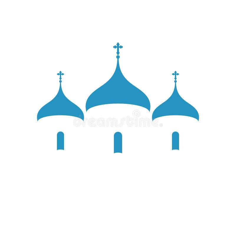 Rosja kościół ortodoksyjny chrześcijaństwo royalty ilustracja