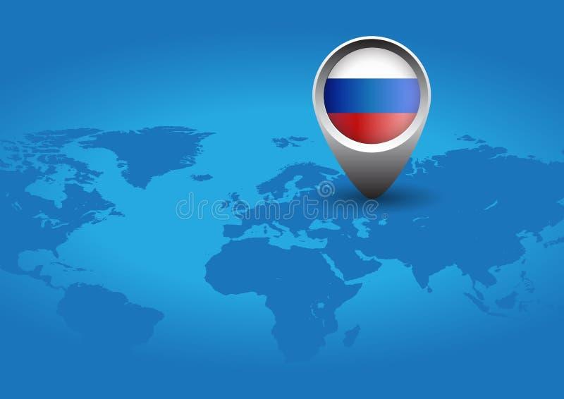 Rosja mapy pointer ilustracja wektor