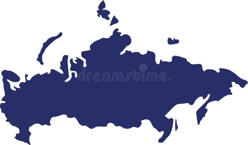 Rosja mapy wektor ilustracji