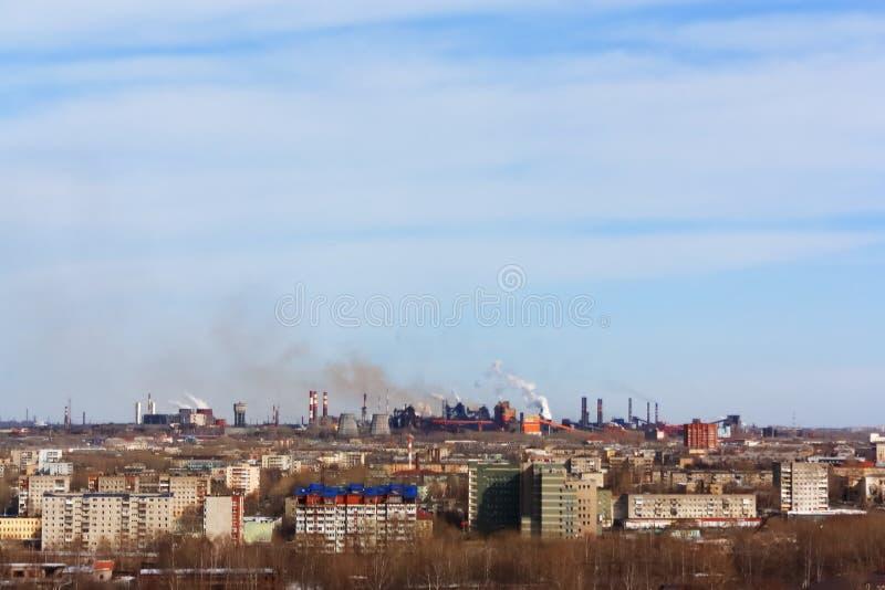 Rosja miasta ural widok od wysokich ślusarstw zdjęcie royalty free