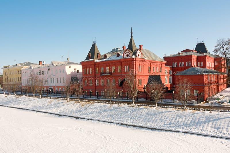 Rosja. Miasto Orel. Widok bank. obrazy royalty free