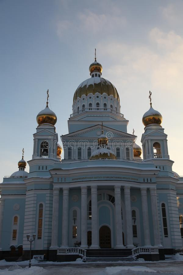 Rosja Mordovia republika, katedra St Theodore Ushakov w Saransk obrazy stock